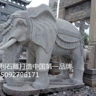 汉白玉石雕大象厂家图片