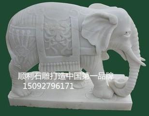 石雕大象生产厂家图片