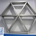 三角型铝格栅图片