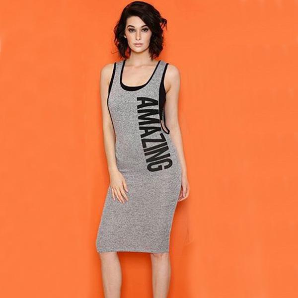 后背V领镂空 性感背心包臀连衣裙销售