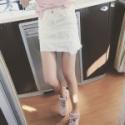 磨破流苏 纯色百搭牛仔短裙半身裙图片