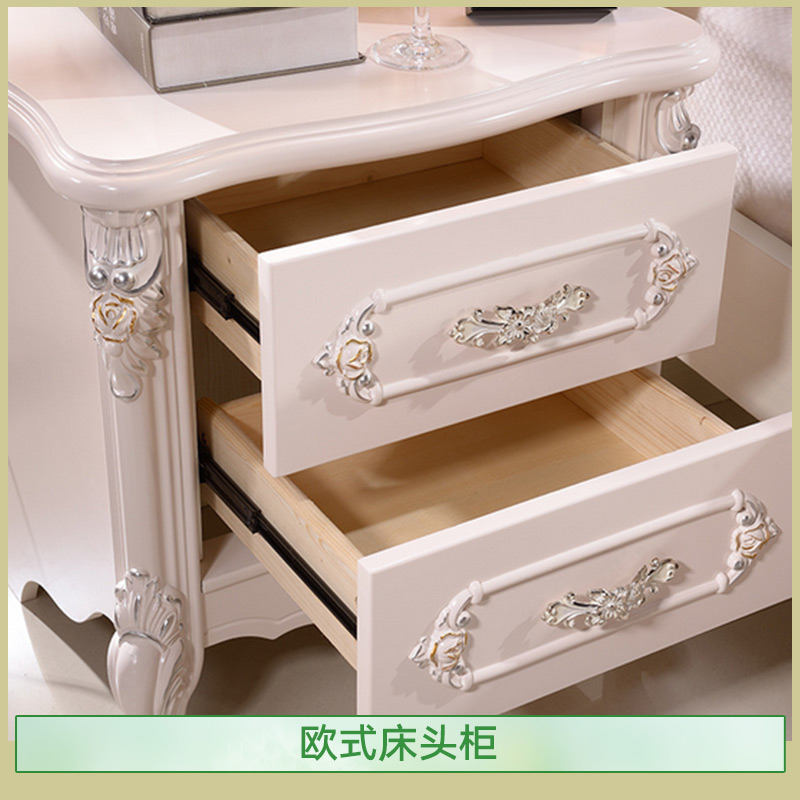 供应欧式床头柜 新百思特欧式床头柜 卧室收纳柜 欧式床头柜加工定做 石家庄欧式床头柜