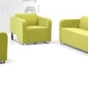 简约现代时尚办公沙发组合布艺沙发图片