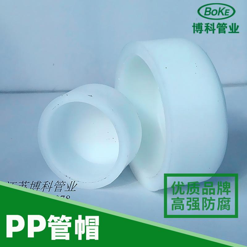博科管阀件供应PP管帽、防腐塑料管帽|聚丙烯管帽、江苏塑料管件批发