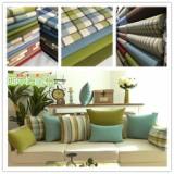 供应用于沙发坐垫 桌布桌旗 抱枕靠包的格子麻布,厂家直销,质量保证,5个颜色全部备货,市场价最低,零售批发