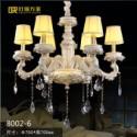 欧式高端重工打造中式陶瓷雕花吊灯图片