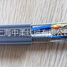 上海中柔厂家供应电梯监控视频专用TVVB随行网线带双钢丝2*1.0MM电源屏蔽抗拉耐弯曲耐老化超五类六类特种扁型网线批发