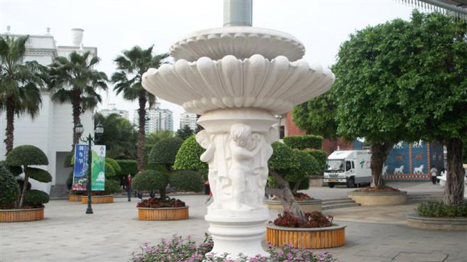 石雕喷泉石雕栏杆石材浮雕花盆批发