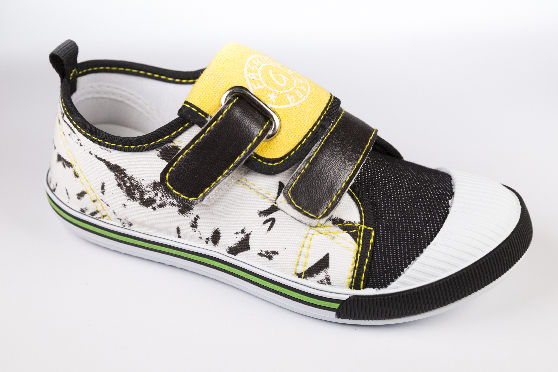 新款儿童帆布鞋魔术贴低帮儿童板鞋中大童休闲运动鞋 儿童布鞋