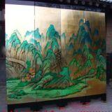 江西上饶寺庙建筑装修墙绘 上饶新农村建设文化墙,墙体彩绘,