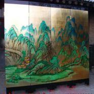 江西上饶寺庙建筑装修墙绘图片