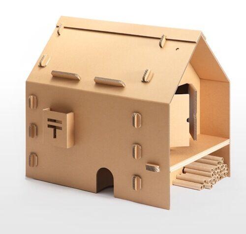 供应用于纸玩生产的定做创意纸艺瓦楞儿童纸房屋图片