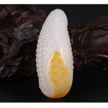 琢玉台新疆和田玉玉米挂件籽料玉米吊坠