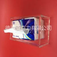 亚克力高档纸巾盒|有机玻璃纸巾盒
