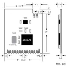 供应用于无线模块的LoRa低功耗RF模块图片