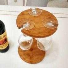 供应高档红酒杯竹木架竹木红酒杯架红酒杯架批发