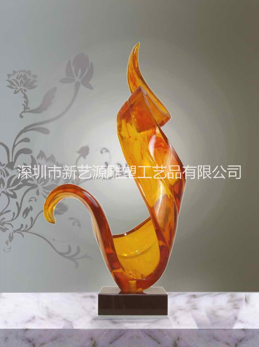 透明树脂雕塑挂件