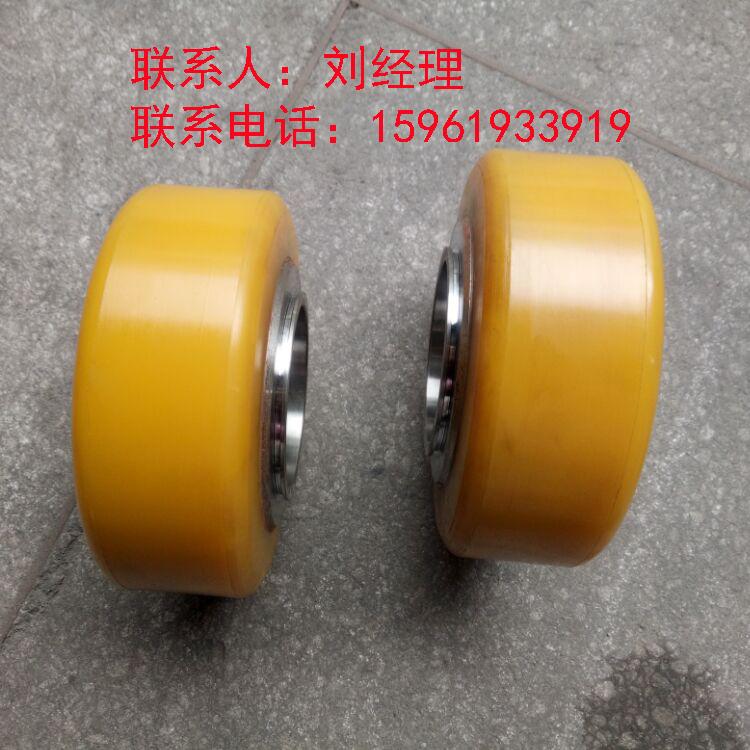 供应聚氨酯平板拖车实心轮胎200x70