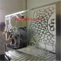 西安铝窗花批发 优质铝窗花供应商 木纹色铝窗花安装效果图 防火铝窗花
