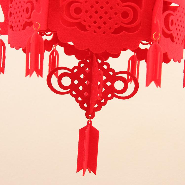 供应用于化纤毛毡的南宫节庆用品厂家,毛毡红灯笼 大红灯笼 节日庆典 婚庆 灯笼挂件挂饰 福字挂件