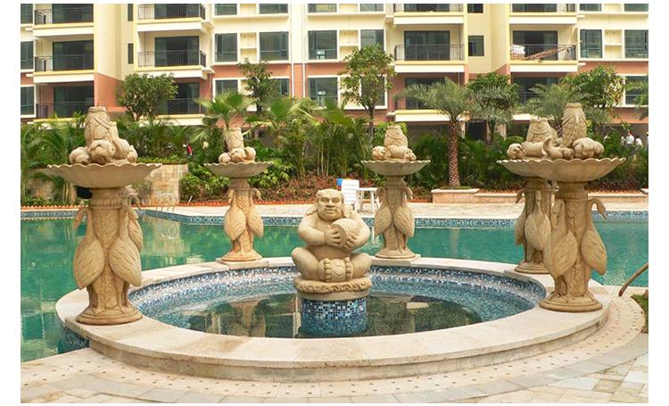 广州欧式三层流水喷泉定做 广州专业设计制作欧式三层流水喷泉厂家
