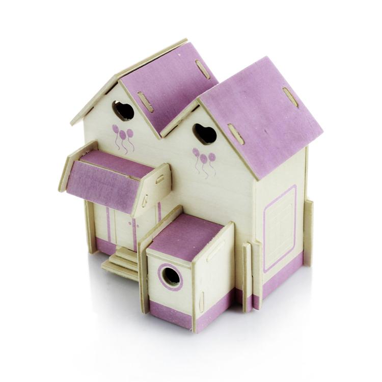 3D立体木质拼图公主小屋 批发