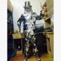供应用于演出|展示|道具的镜面服机械舞镜面人演出服装 cosplay表演服 道具出租