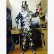 镜面服机械舞镜面人演出服装图片