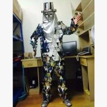 供應用于演出|展示|道具的鏡面服機械舞鏡面人演出服裝 cosplay表演服 道具出租批發