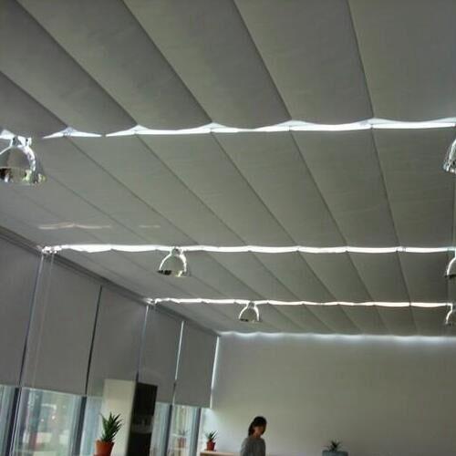 折叠式天棚帘效果图_折叠式天棚帘产品图片 样板图_乐