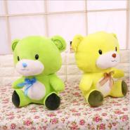 厂家直销五彩熊毛绒玩具抓机娃娃小熊公仔玩偶女生礼物批发儿童