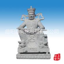 供应用于摆件的四大天王 石雕佛像汉白玉大理石佛像 室内寺庙摆件 曲阳石雕可定做