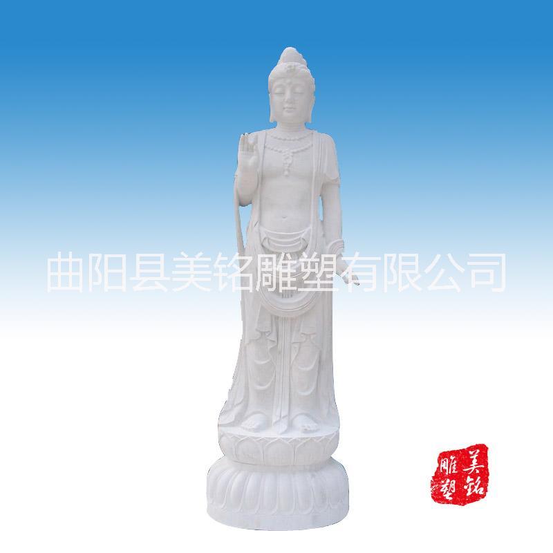 供应用于摆件的汉白玉观音 工艺品摆件石雕佛像 青石做旧仿古雕塑 工艺品摆件 寺院装饰 曲阳石雕