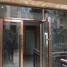 供应不锈钢电梯门套玻璃地弹簧门防盗门自动感应门承包工程包板包边图片