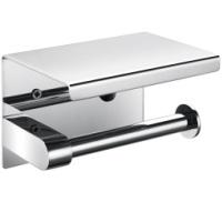 供应不锈钢小卷卫生纸架 空心卷纸盒 放手机的纸巾架