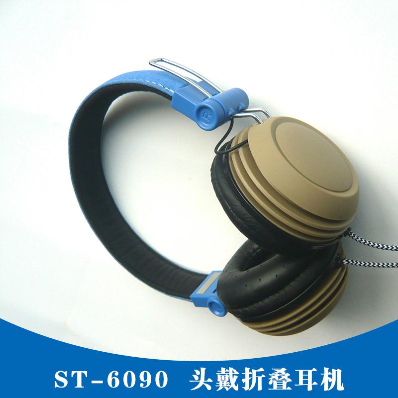 ST-6090头戴折叠耳机 头戴耳机 头戴教学折叠耳机 深圳ST-6090 头戴折叠耳机