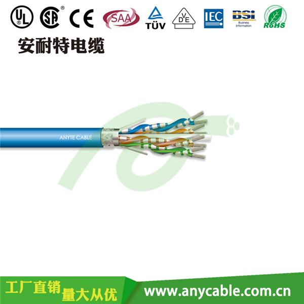 Cat5e五类编织屏蔽网络线销售