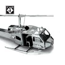 拼装模型金属DIY拼装模型手工拼装休伊直升机不绣钢益智玩具智玩具批发