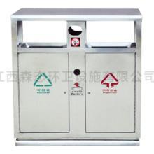 不锈钢分类垃圾桶带灭烟处 防盗加锁机制