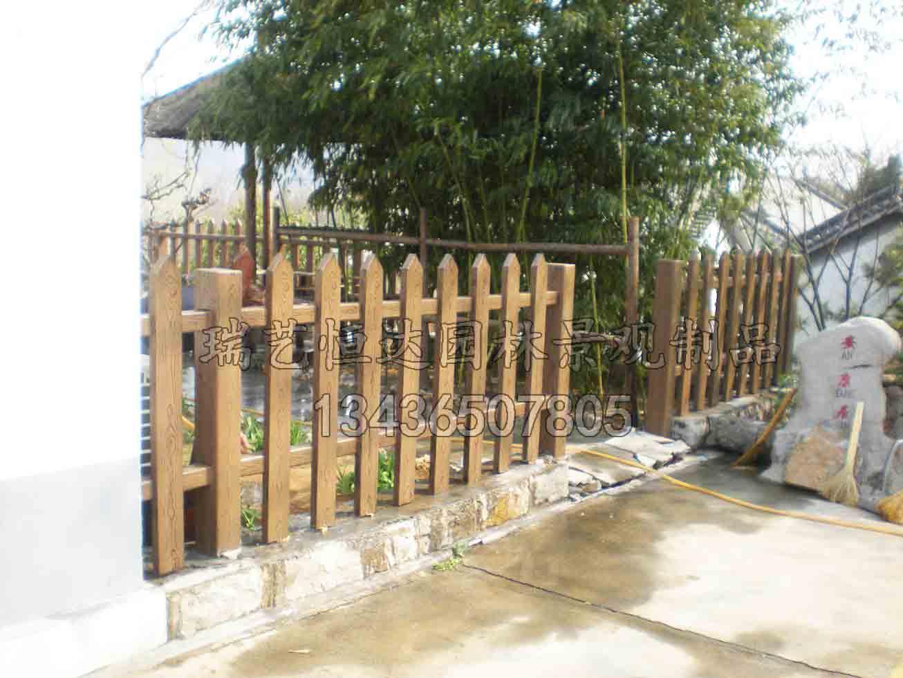 黑龙江仿木栏杆仿木护栏仿木围栏报价