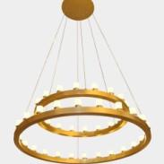 现代简约时尚金色蜡烛型客厅吊灯餐图片