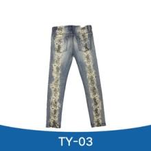 TY-03 牛仔裤 印花牛仔长裤 紧身牛仔长裤 新塘牛仔裤图片