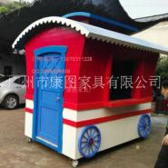 户外小吃车厂家批发北京实木售货车 广场木花车