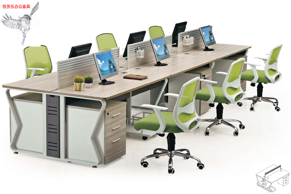 钢架屏风办公桌 办公家具 广州屏风桌椅