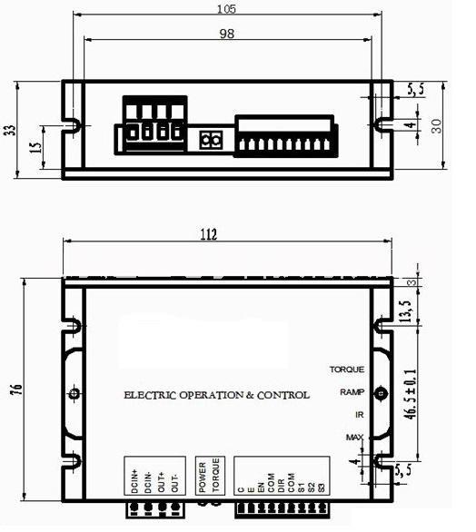 MIG管板焊接机直流电机驱动器带电子换向电机控制器MIG管板焊接机直流电机驱动器带电子换向电机控制器MIG管板焊接机直流电机驱动器带电子换向电机控制器 联系电话:13256660302 0531-58199687 12V,24V,36V,48V;10A;20A, 0-5V/10V;四象限可逆;电子换向 一、性能特点 四象限可逆模式 PWM脉宽调制 无触点换向,可频繁正反转 低速启动/运转力矩大,具有力矩补偿功能 调速比100:1,双闭环PI调节(电流、电压) 启动时间可设置 输出电流设置 过