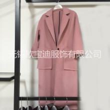 2016韩版羊绒双面尼大衣高端定制纯手工图片
