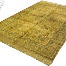 """波斯复古老丝毯-""""软黄金""""地毯、挂毯罕见金黄色波斯中心葵暗花系列收藏挂毯/地毯批发"""