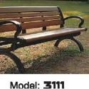 铸铁脚公园椅图片