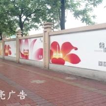 广州大型围墙广告发布找一亮广告,包制作包安装,上画时间快