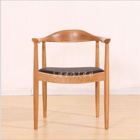 高密市唯美家具纯实木橡木餐椅肯尼迪总统椅简约现代时尚椅子